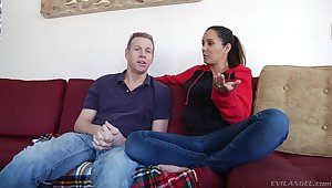 Milf and say no to husband talk about sex in hd porn video