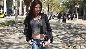Naughty Asian girl Miyuki hooks produced not quite ventilate alms-man