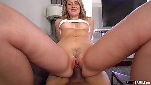 Dick hungry nympho Charlotte Sins gets putrescent up in lust with her stepbrother